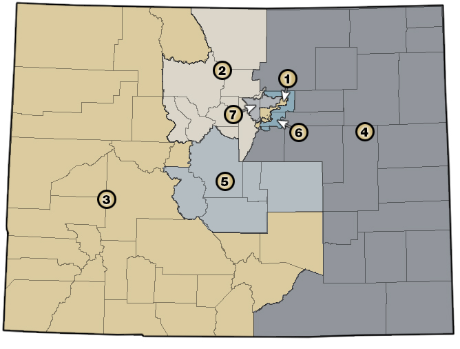 State of Colorado District Map